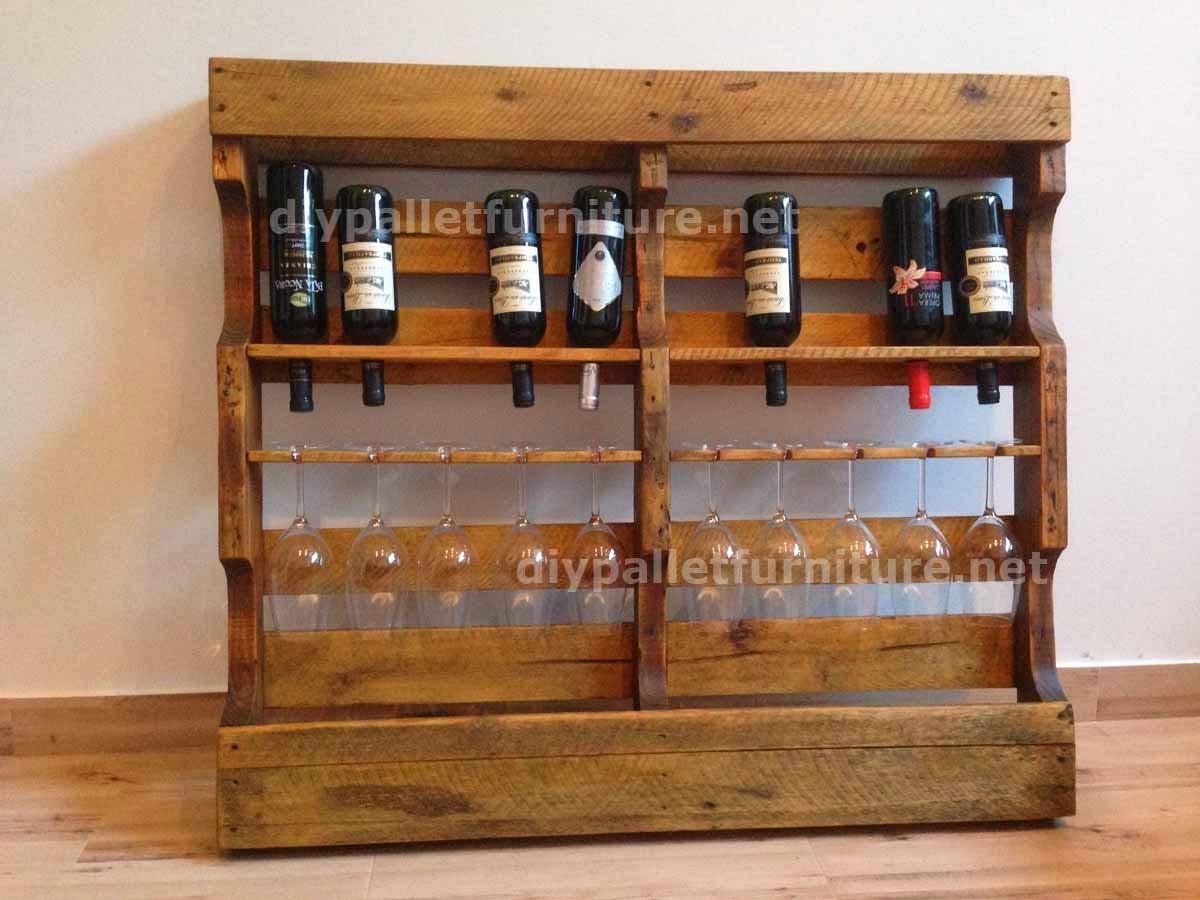 Instrucciones para hacer un botellero - Comment faire un bar avec des palettes ...