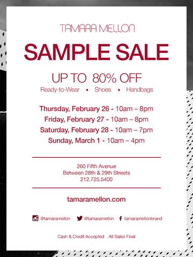 Tamara Mellon 2015 NYC Sample Sale Report | Le Hoarder
