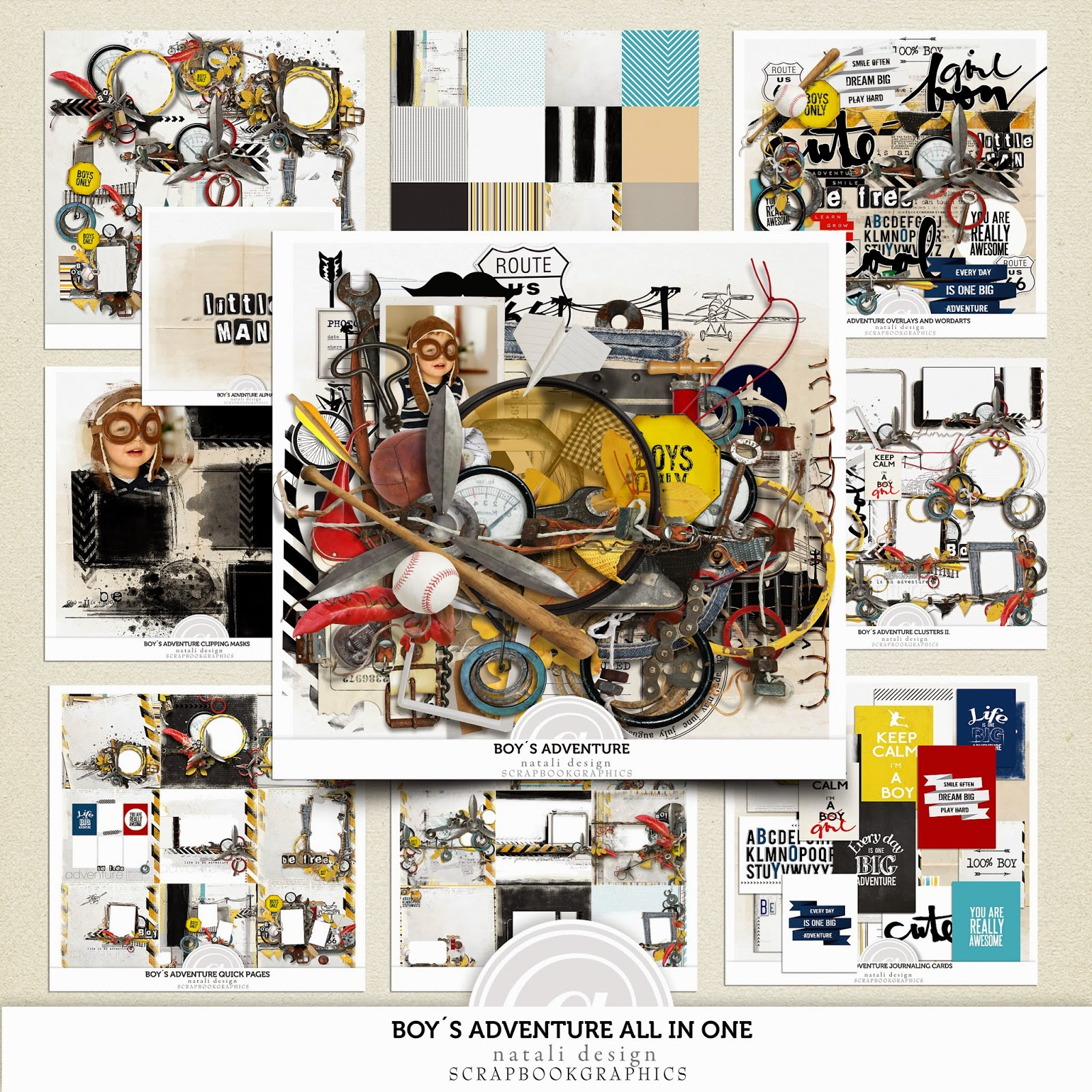 http://shop.scrapbookgraphics.com/Boy-s-adventure-All-in-One.html