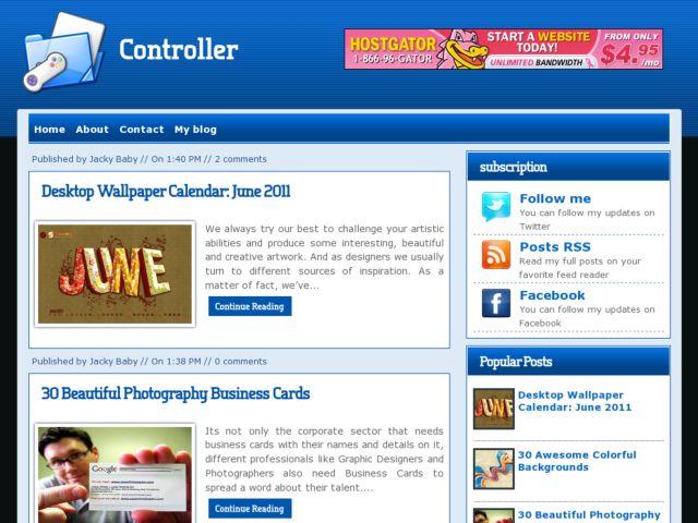 Controller Blogger Template