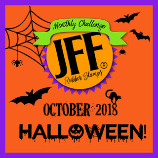 I won at Just For Fun Rubber Stamp's October Challenge!