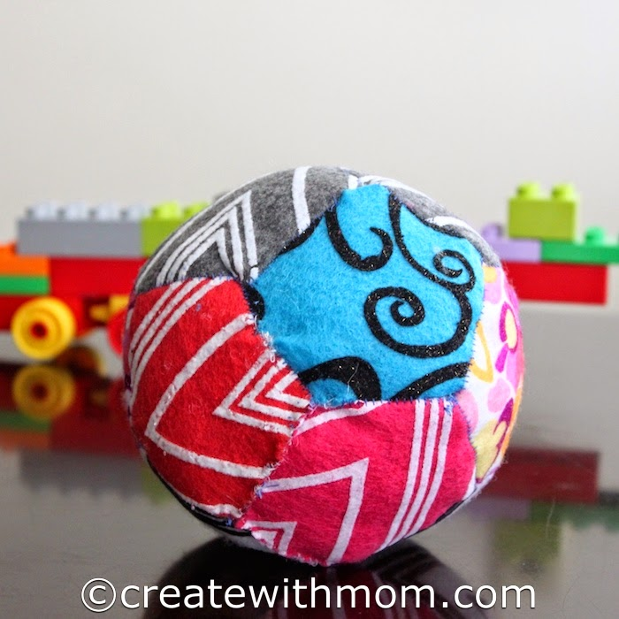 stuffed felt play ball