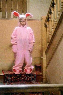 Christmas Story Pink Bunny Costume