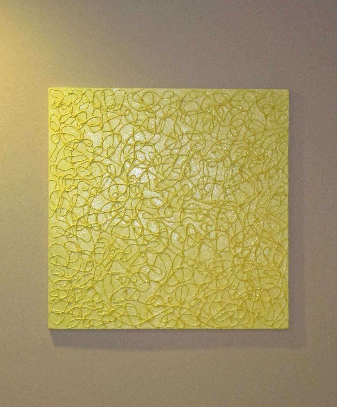 blukatkraft diy simple textured wall art with string