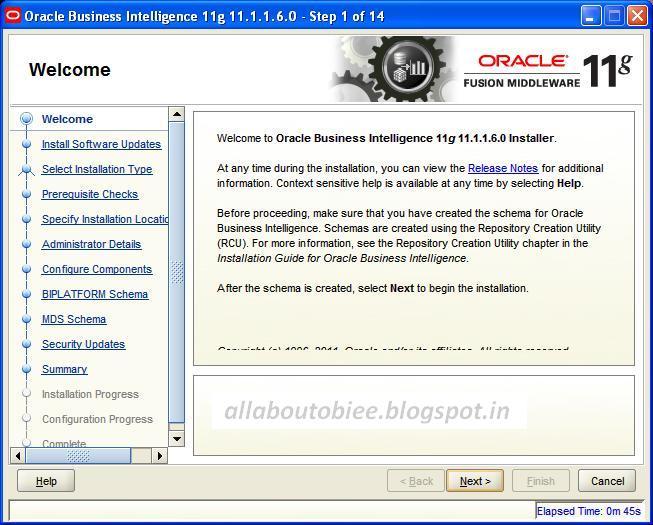 oracle business intelligence obiee 11 1 1 6 0 step by step rh allaboutobiee blogspot com obiee 11g installation guide for windows 7 obiee 11g installation guide solaris