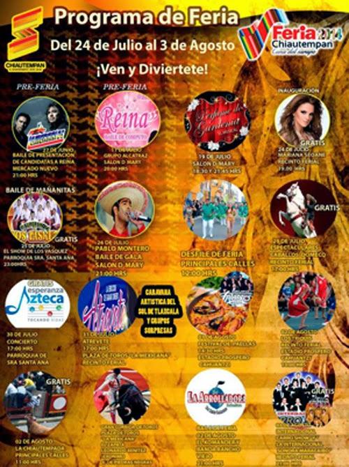 Programa Feria chiautempan 2014