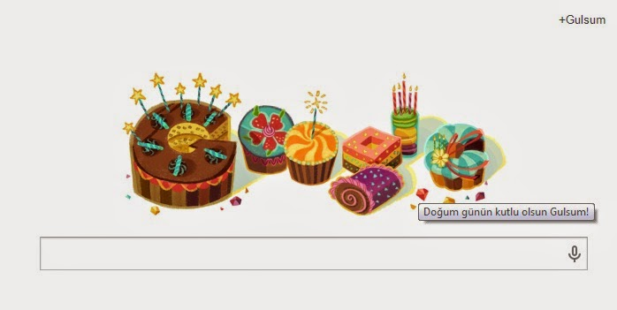 Google Birthday Message
