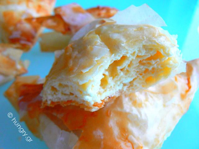 Feta Phyllo Triangles