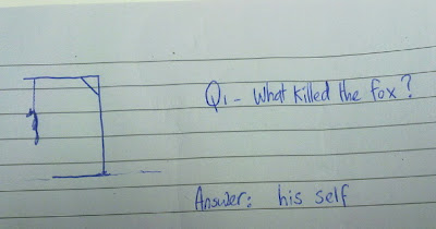Q1 - What killed the fox? Answer: his self