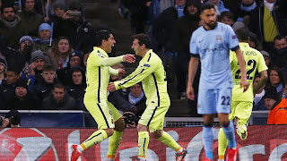 Manchester City 1 - 2 FC Barcelone