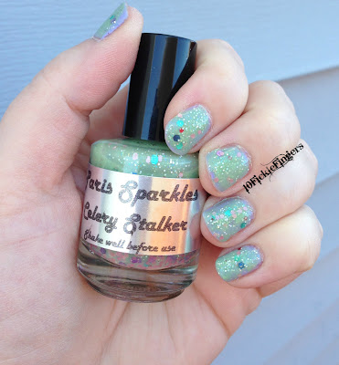 Paris Sparkles Celery Stalker swatch in shade