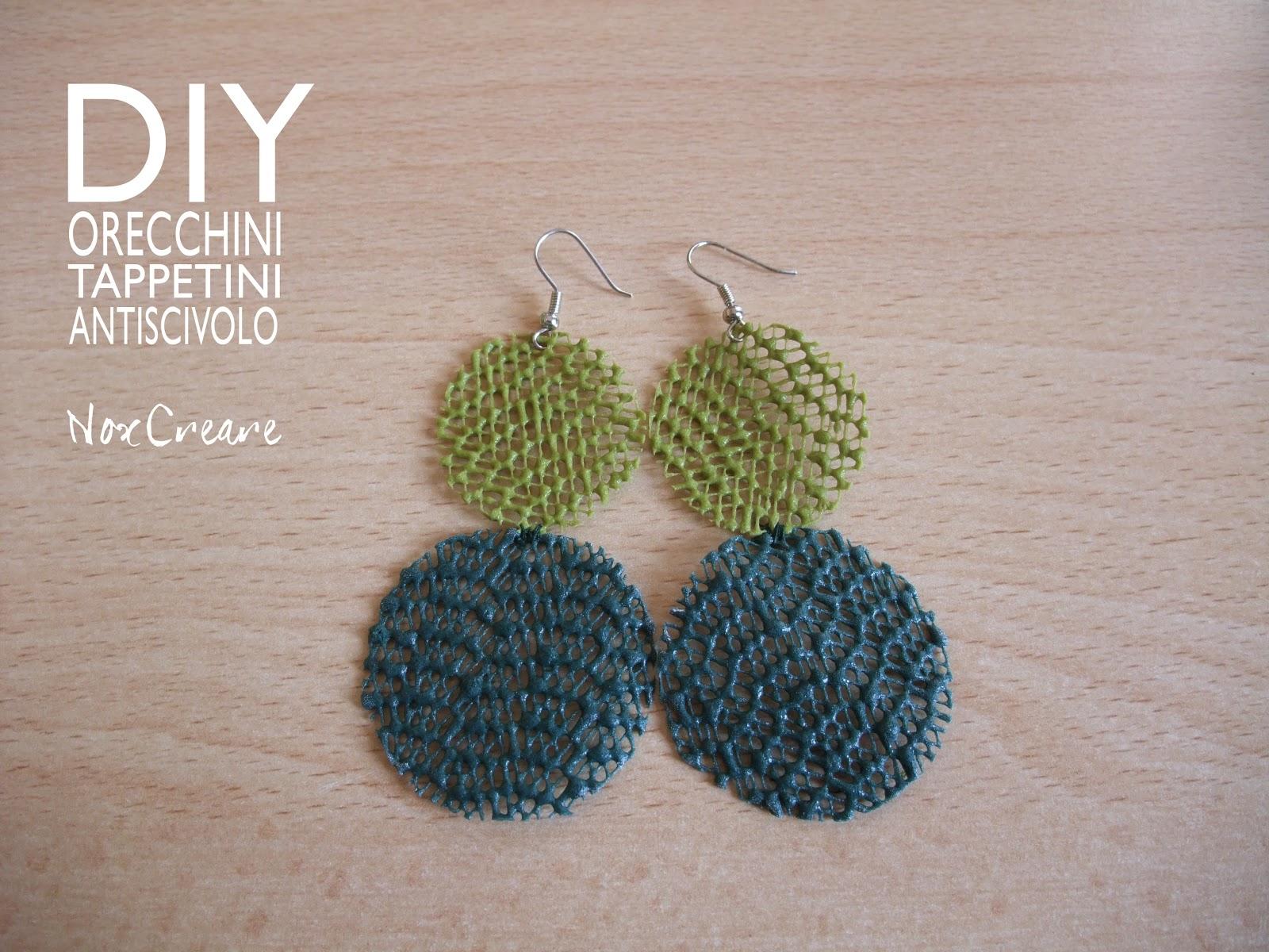 Noxcreare diy orecchini verdi con tappetini da cucina - Tappetini da cucina ...