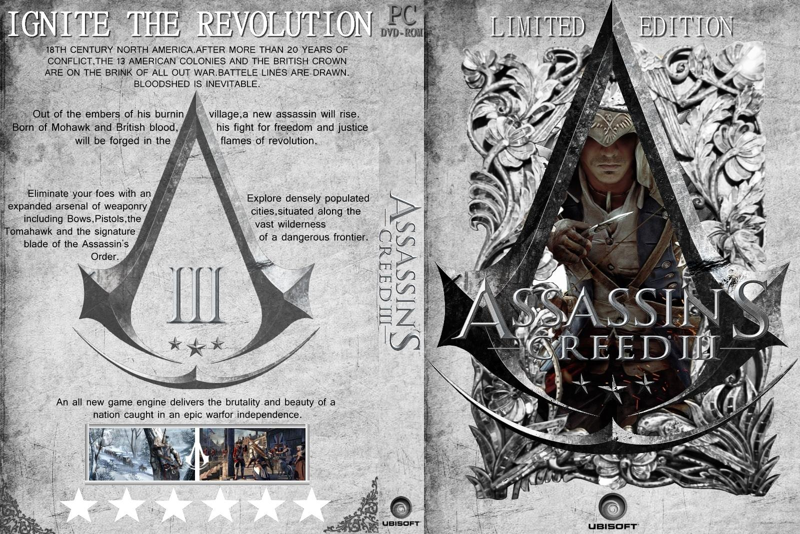 Capa Assassins Creed III Limited Edition PC
