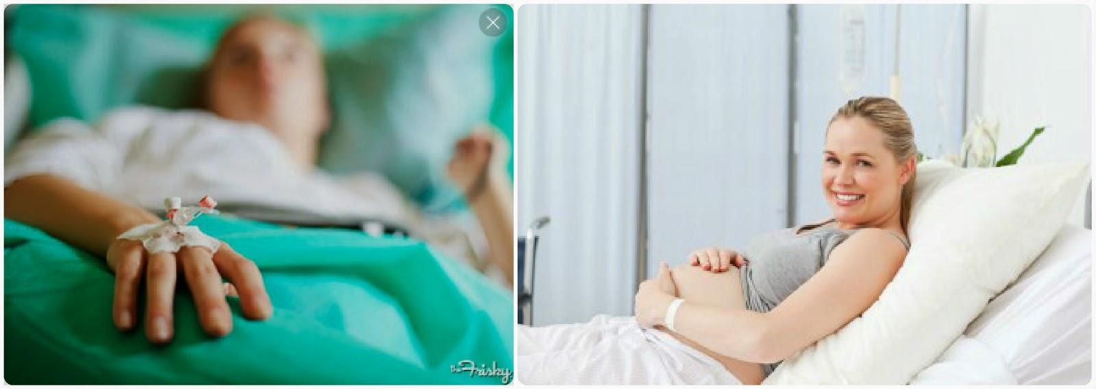 těhotná v nemocnici, rizikové těhotenství