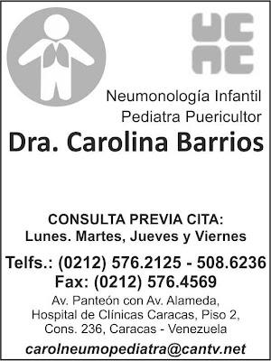DRA. CAROLINA BARRIOS en Paginas Amarillas tu guia Comercial