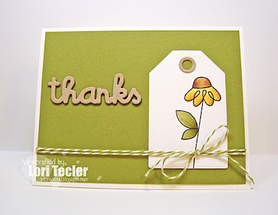 Twiggy Florets Thanks card-designed by Lori Tecler/Inking Aloud-stamps and dies from Paper Smooches