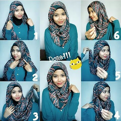 tutorial hijab paris mudah