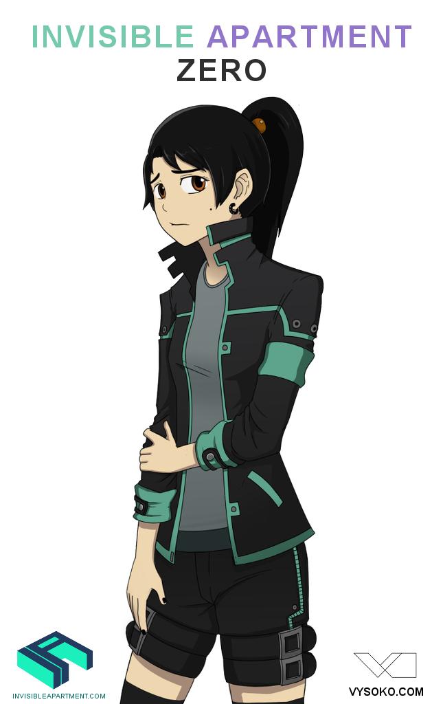Kacey invisible apartment zero character design girl for Apartment zero design