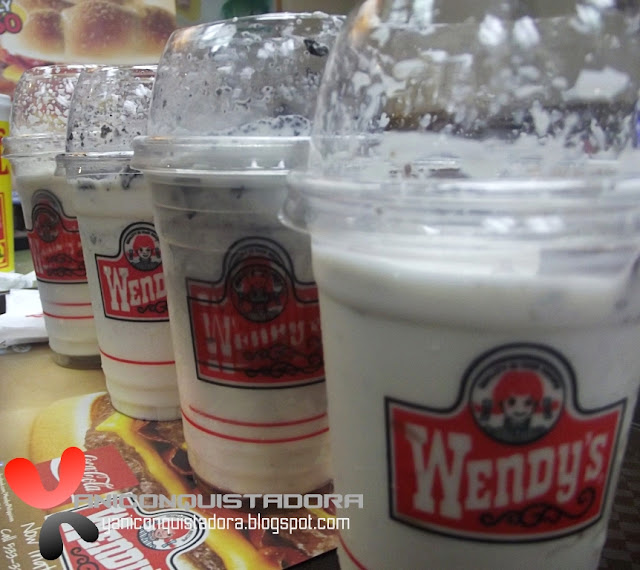 Wendy's Kitkat Twisted Frosty and Oreo Twisted Frosty