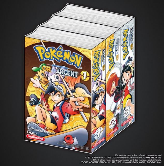 Pokémon - La Grande Aventure : Or et Argent, Kurokawa, Manga, Actu Manga, Satoshi Yamamoto, Mato,