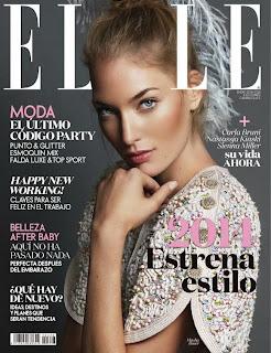 Magazine Cover: Masha Bacer Magazine Photoshoot Pics on Elle Spain Magazine January 2014
