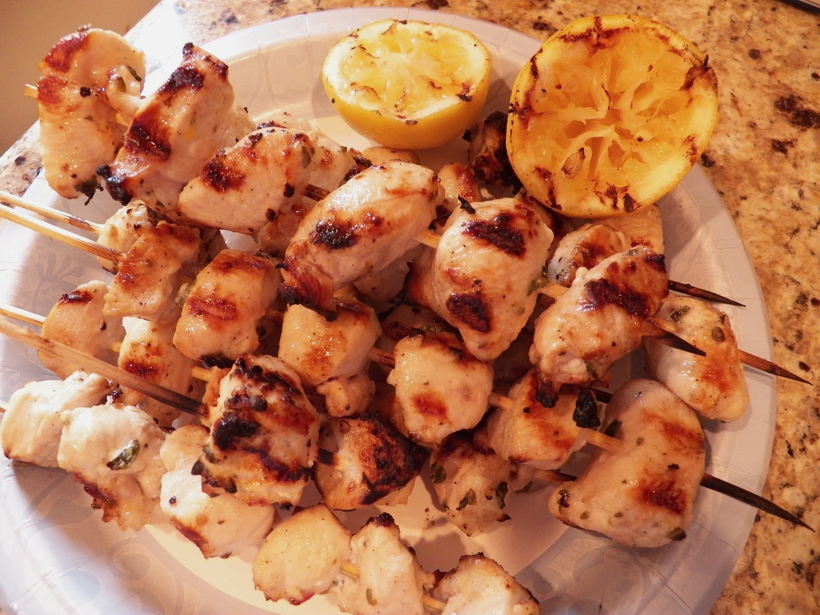 Chicken Souvlaki With Tzatziki Sauce And Greek Salad Recipes ...