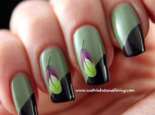 born pretty store feather water decals