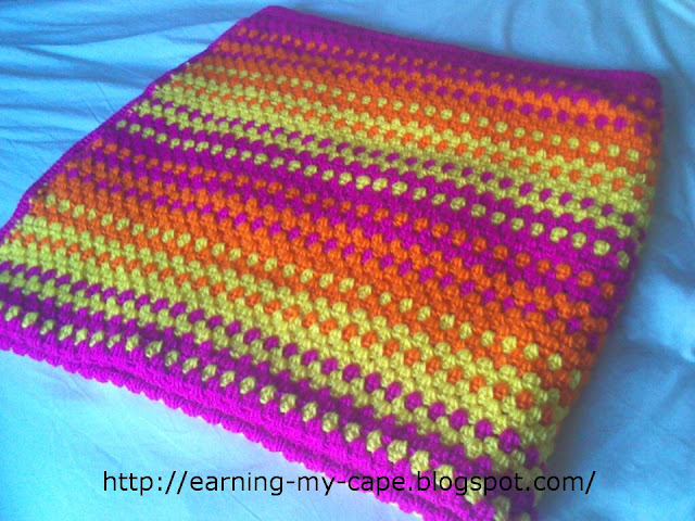Earning-My-Cape: Granny Stripes Color-Burst Blanket (Free ...