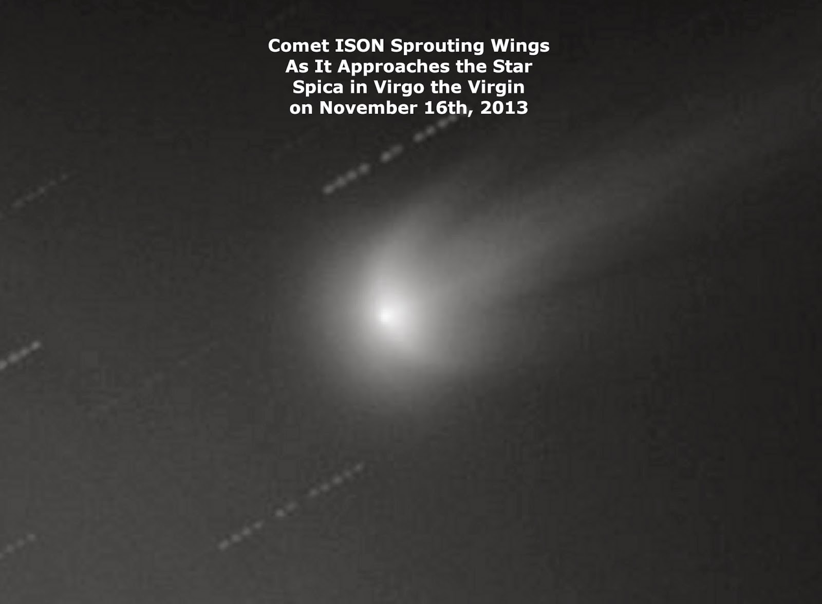 COMET ISON HAS SPROUTED RAPTURE WINGS!