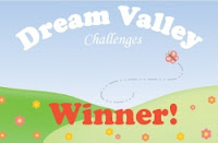 I won  Dream Valley Challenge for Wobble cards