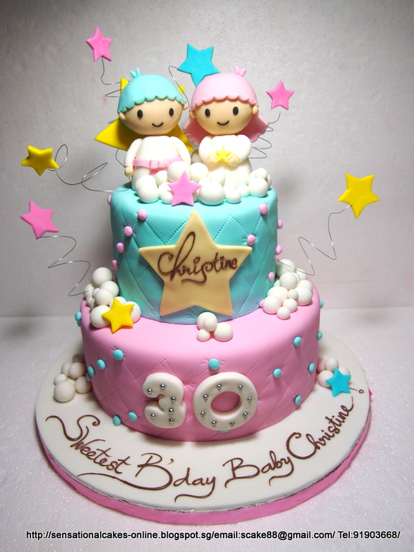 The Sensational Cakes Little Twin Stars Cakes Singapore