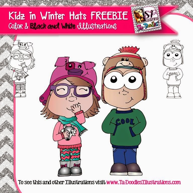 http://www.teacherspayteachers.com/Product/Kids-in-winter-hats-Freebie-clip-art-1640199
