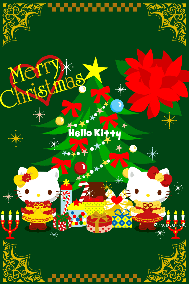 Hello Kitty Merry Christmas Wallpaper pictures