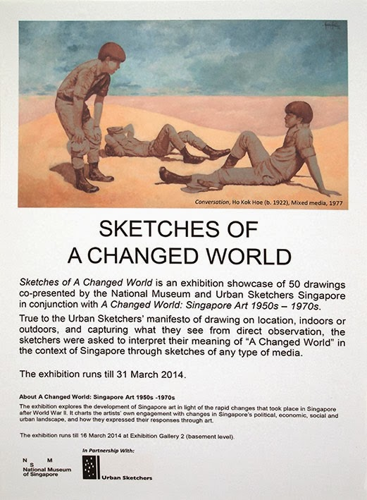 Sketches of a Changed World poster - National Museum of Singapore
