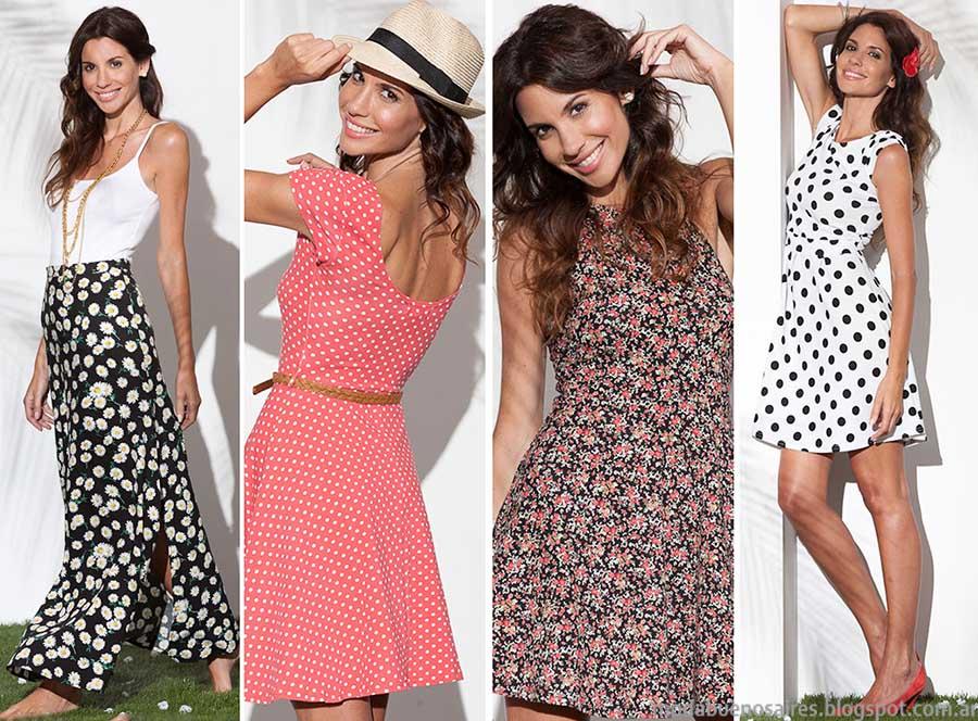 Normandie moda primavera verano 2015 vestidos, faldas y blusas.