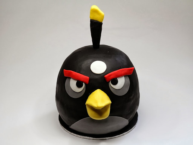 Black Angry Bird - Best Cakes for Boys in London