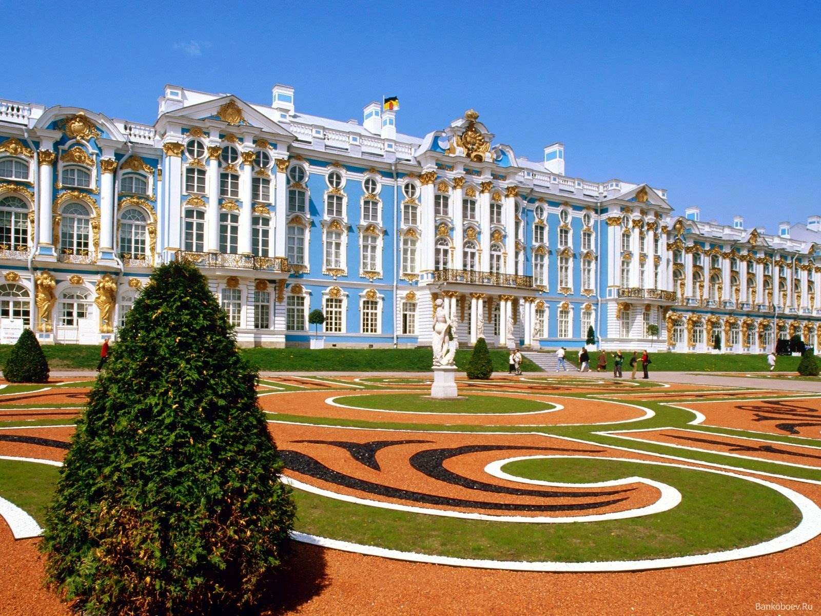 Palacio de Catalina en Pushkin de San Petersburgo