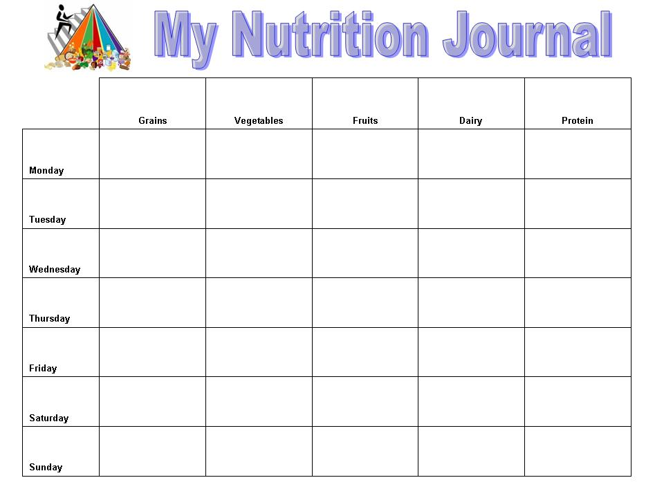 2nd grade superstars nutrition project food journal and reflection