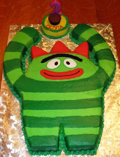 yo gabba gabba birthday smash cake