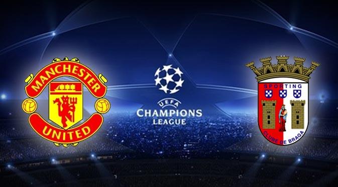 Manchester United vs Sporting Braga Liga Champions Oktober 24, 2012