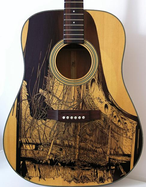 Patrick Fischer guitarras pintadas