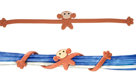 organizadores de cabo, criatividade, abraço macaco, macaco, coolest cable organizers, eu adoro morar na internet