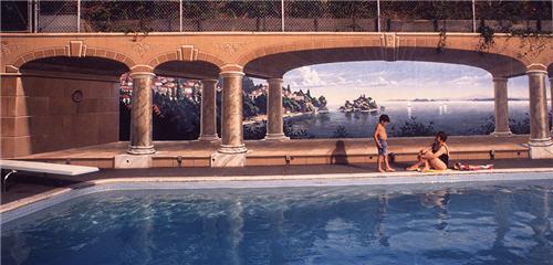 Eric Grohe - Muro de la piscina de la Familia Peizer de Seattle