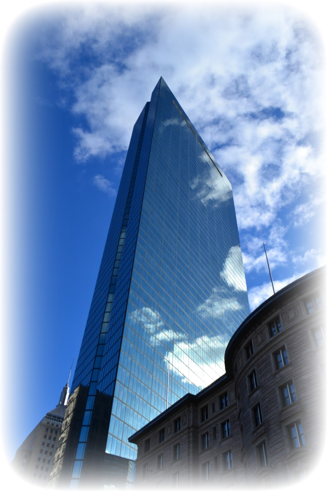 john hancock, tower, copley, square, boston, massachusetts, tall, large