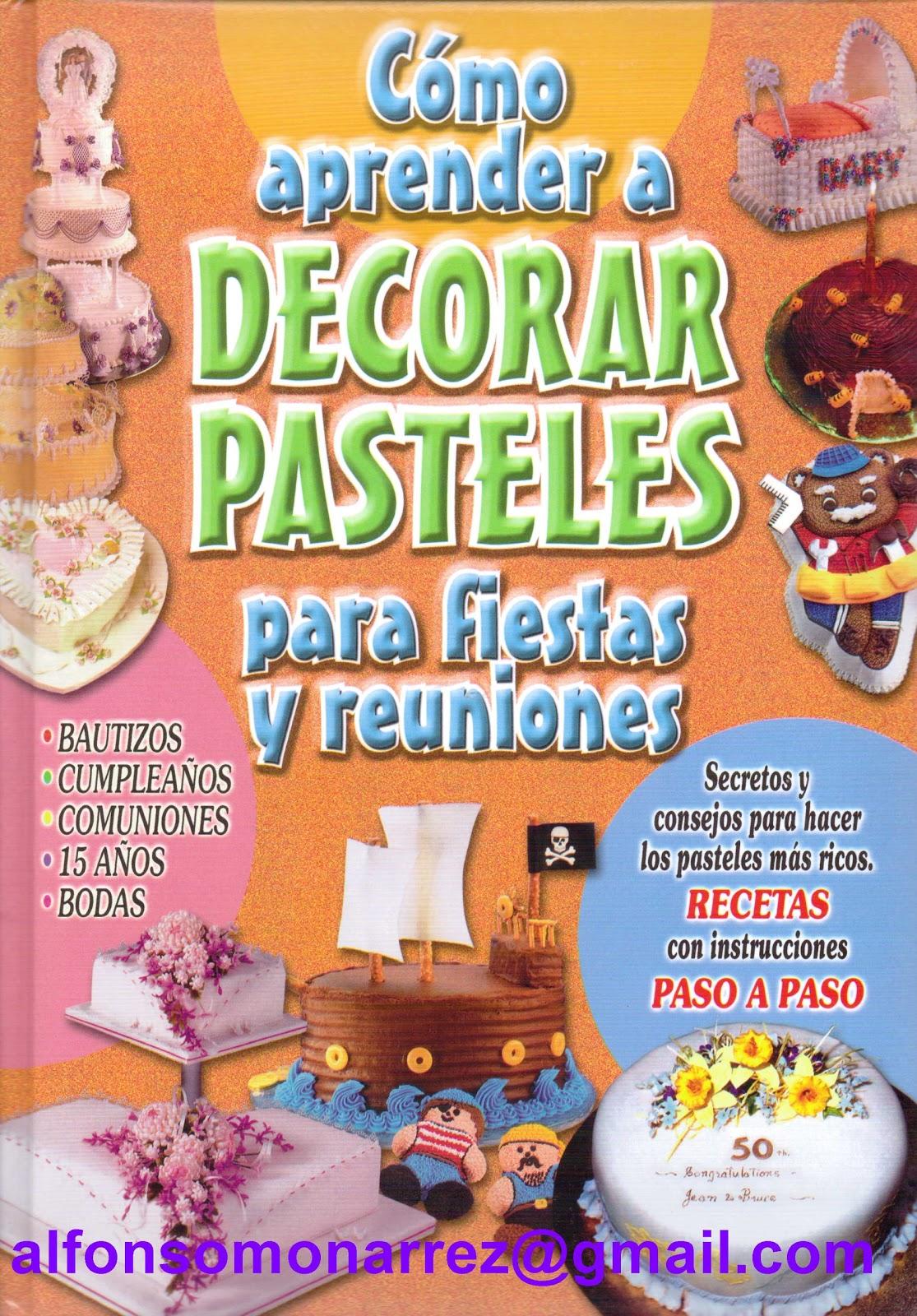libros como aprender a decorar pasteles para fiestas y