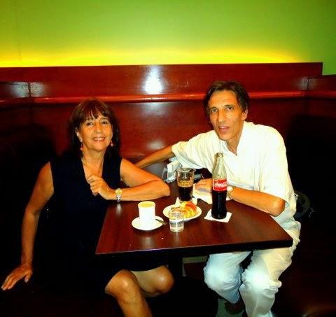 Con la escritora Inés Fernández Moreno