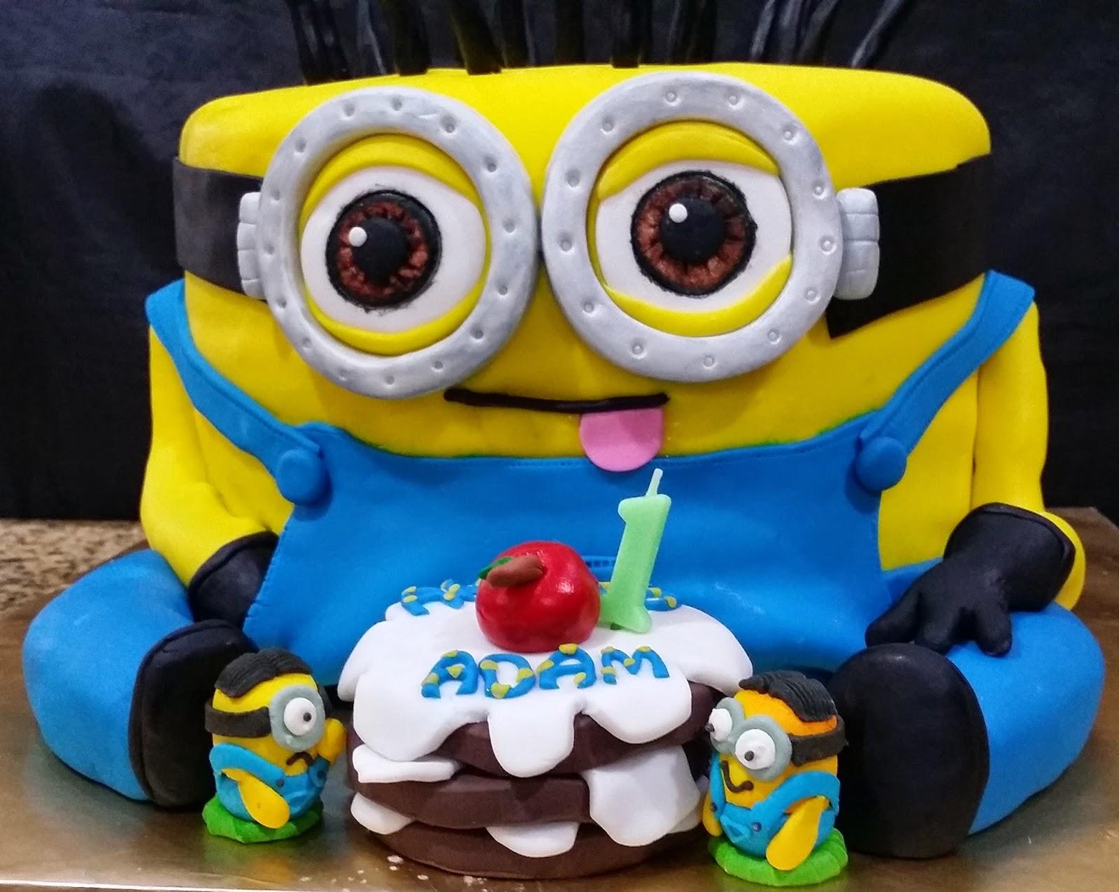 Big Minion Rainbow Cake For Ahmad Adams 1st Birthday