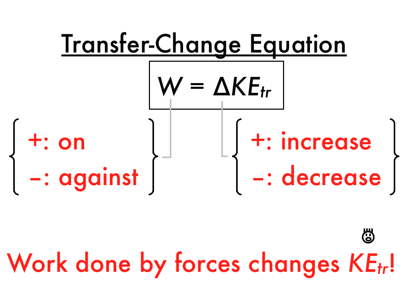 Translational Kinetic Energy Formula total energy conservation