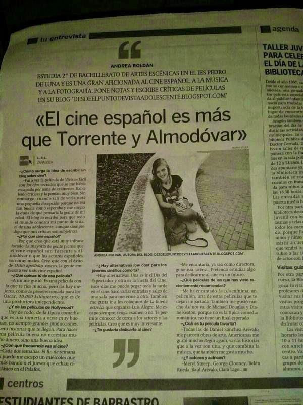Entrevista en el Periodico de Aragón