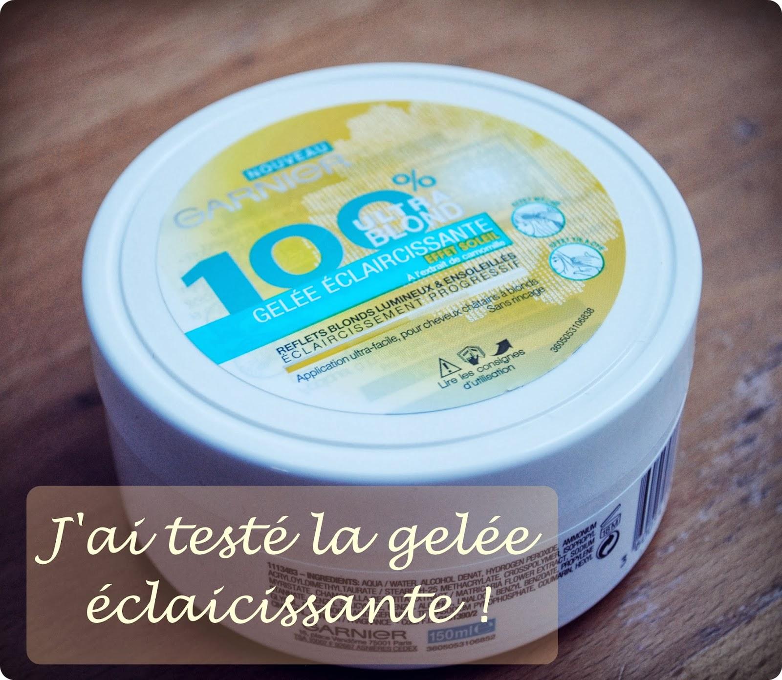 jai test la gele claircissante 100 ultra blond de garnier - Super Eclaircissant Sur Cheveux Colores
